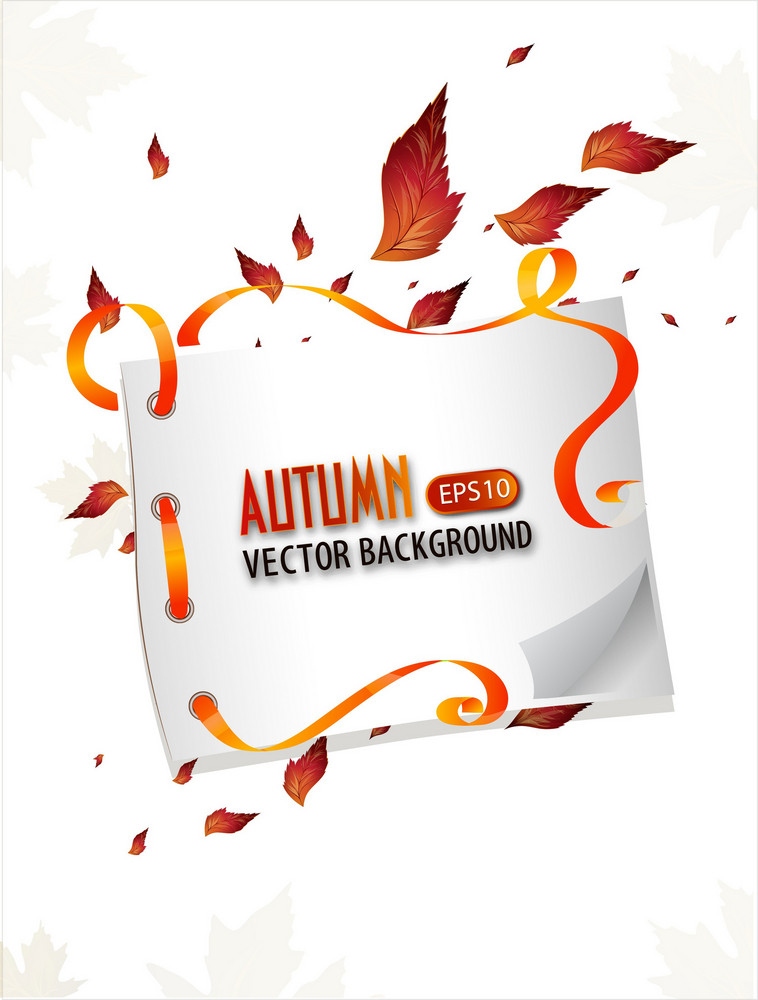 Vector Autumn Background With Banner