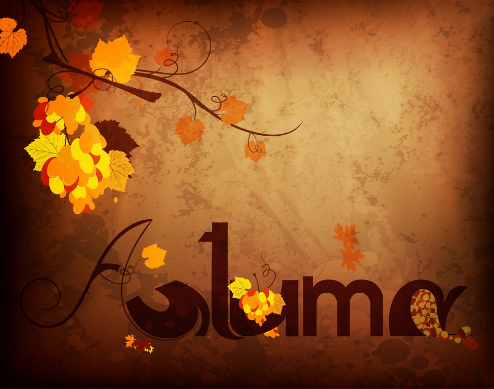Vector Autumn Grunge Background