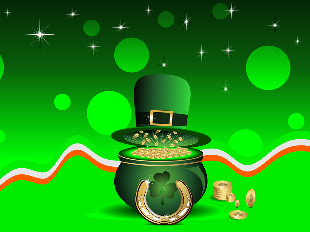 Vector  Backdrop  Background For St. Patrick's Day.