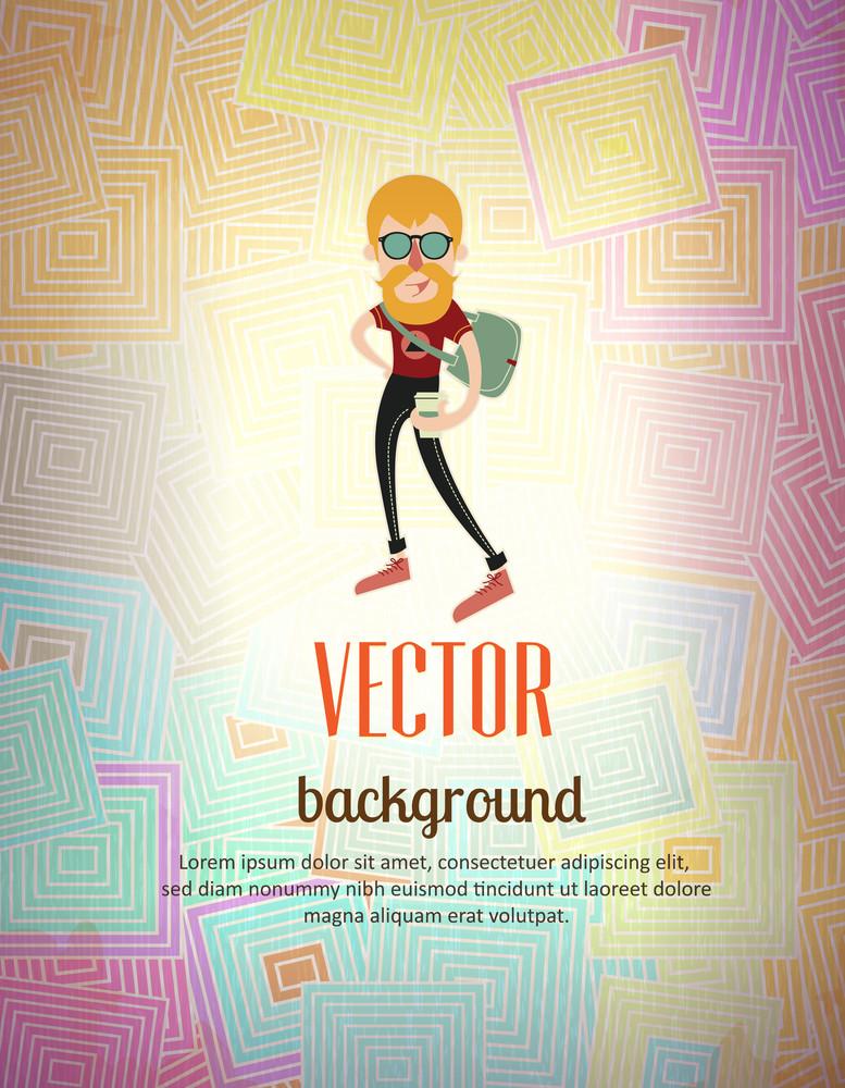 Vector Background Illustration (editable Text)