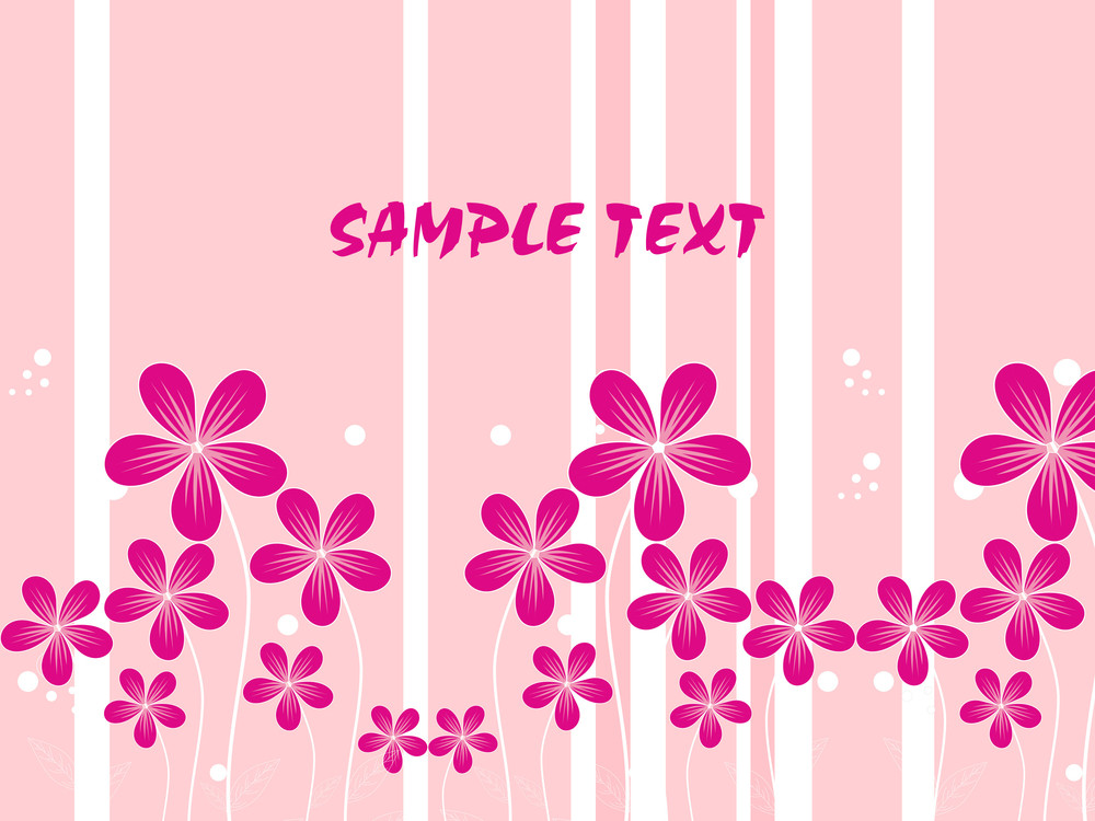 Vector Background With Blossoms