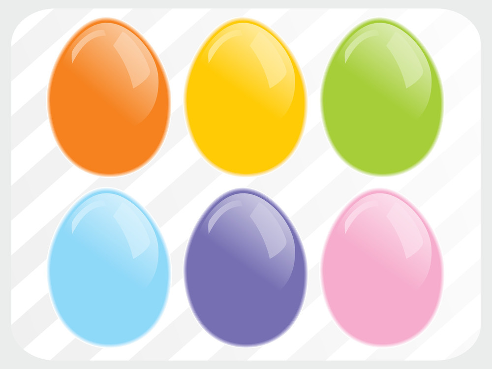 Vector Background With Colorful Egg