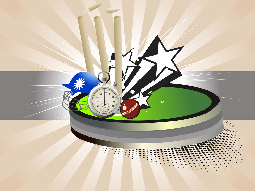 Vector Background With Cricket Supplies