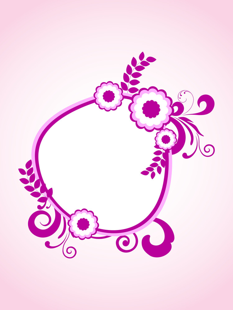 Vector Background With Decorated Frame