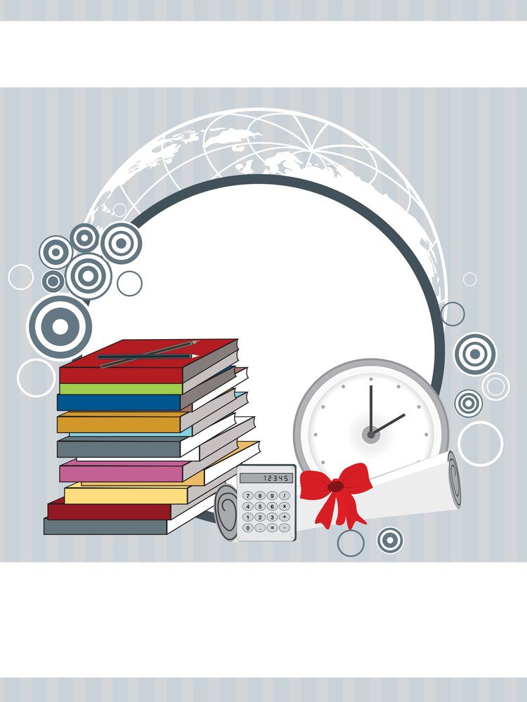Vector Background With Education Supplies