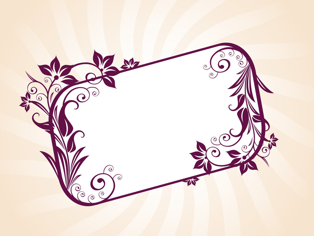 Vector Background With Floral Frame