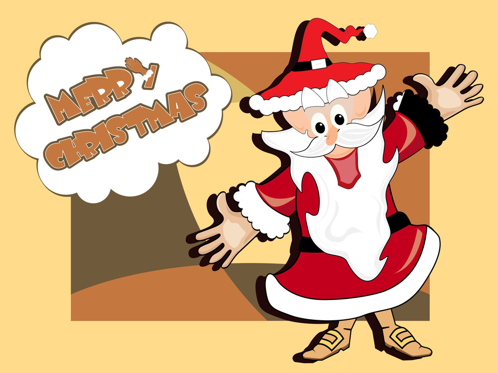Vector Background With Santa Claus
