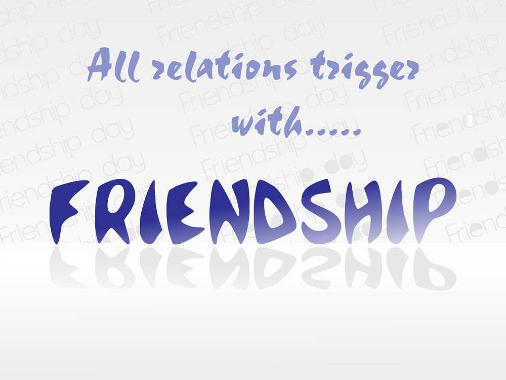 Vector Banner For Friendship Day Isolated On White