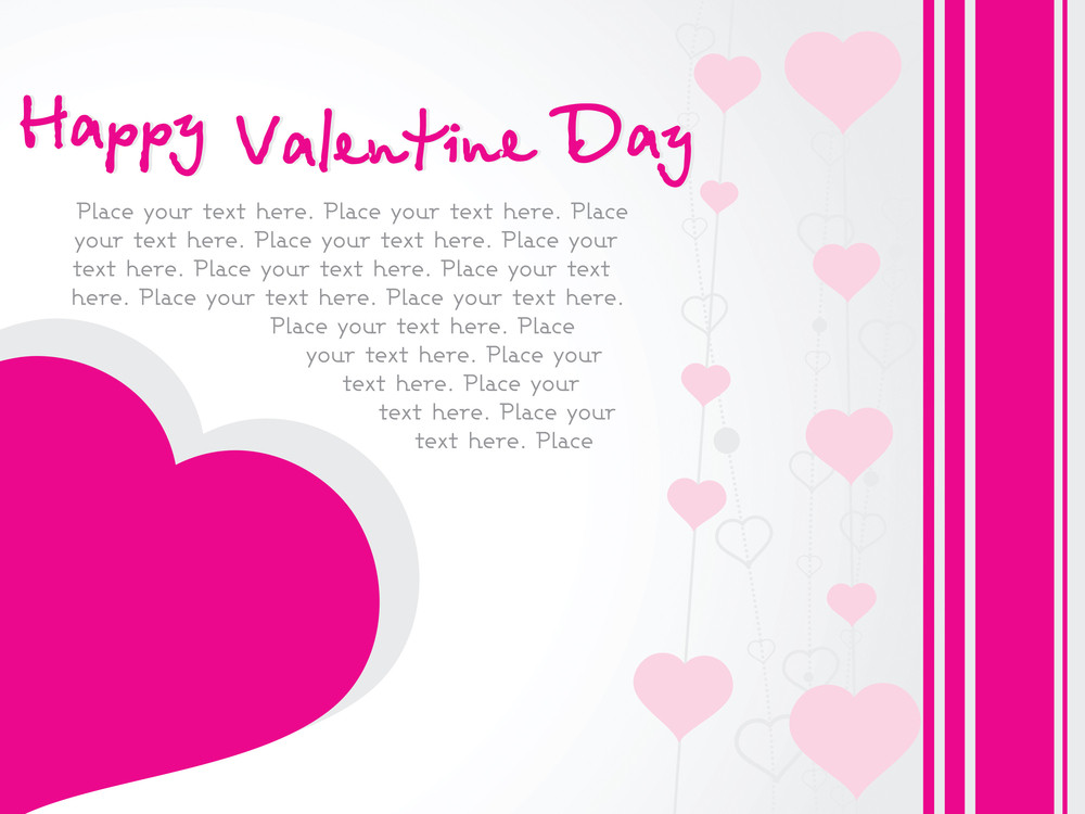 Vector Banner Of Pink Hearts Theme
