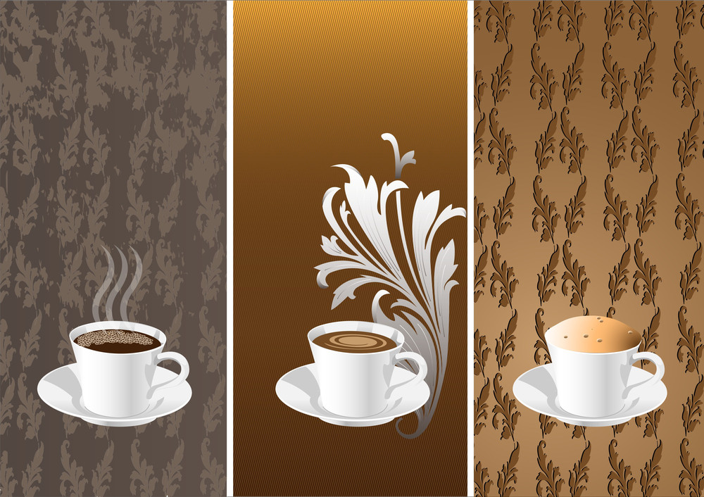 Vector Banners With Coffee Cups.