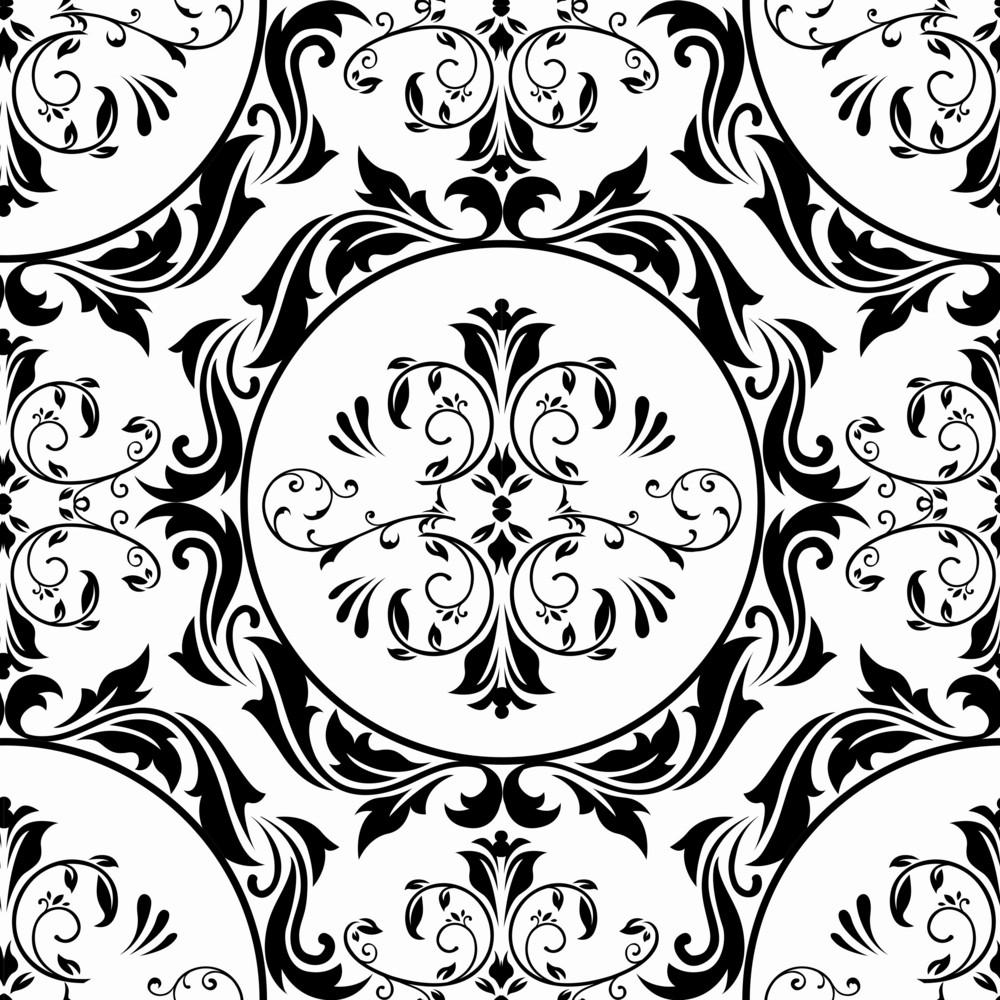 Vector Baroque Seamless Pattern