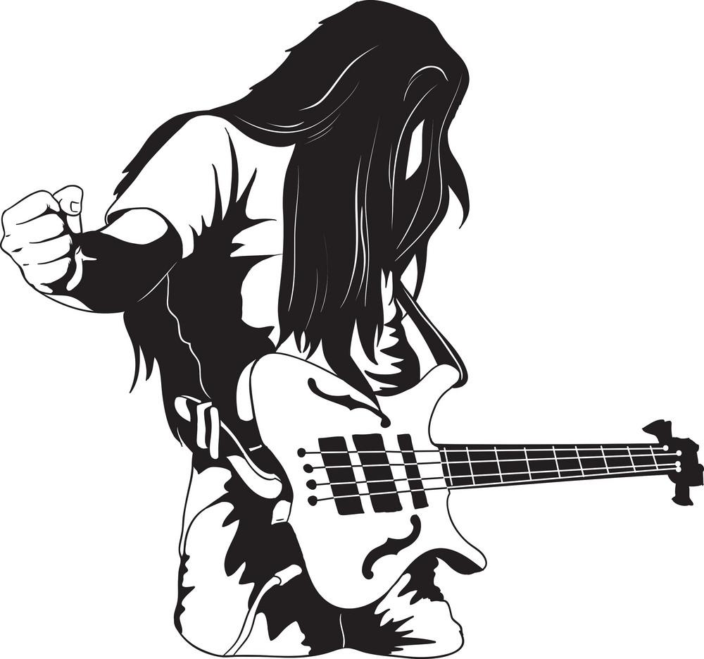 Vector Bass Player