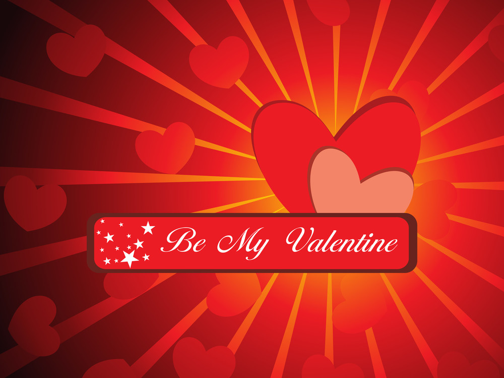 Vector Be My Valentine Concept Background