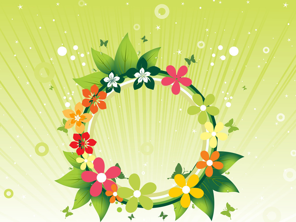 Vector Beautiful Element With Background