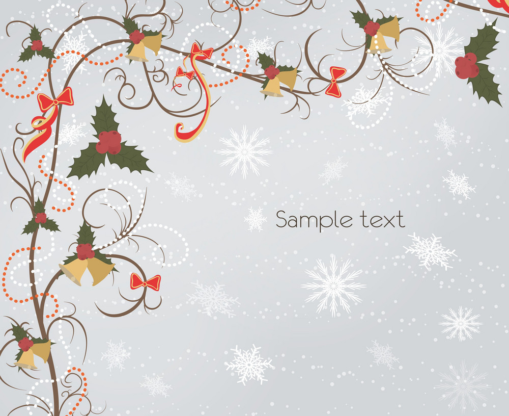 Vector Bells With Floral