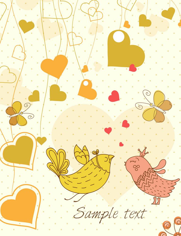 Vector Birds In Love