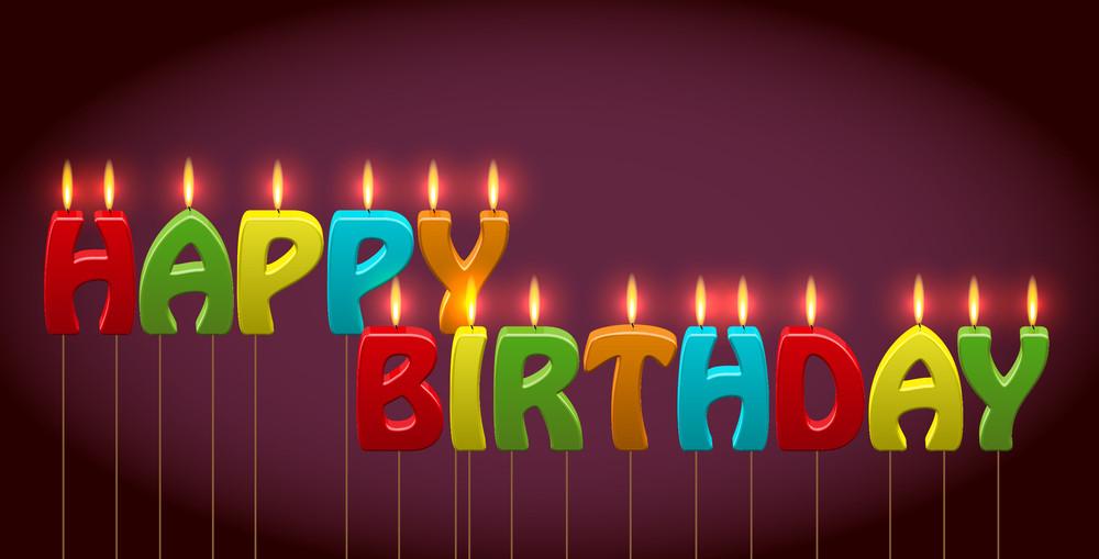 Vector Birthday Candles