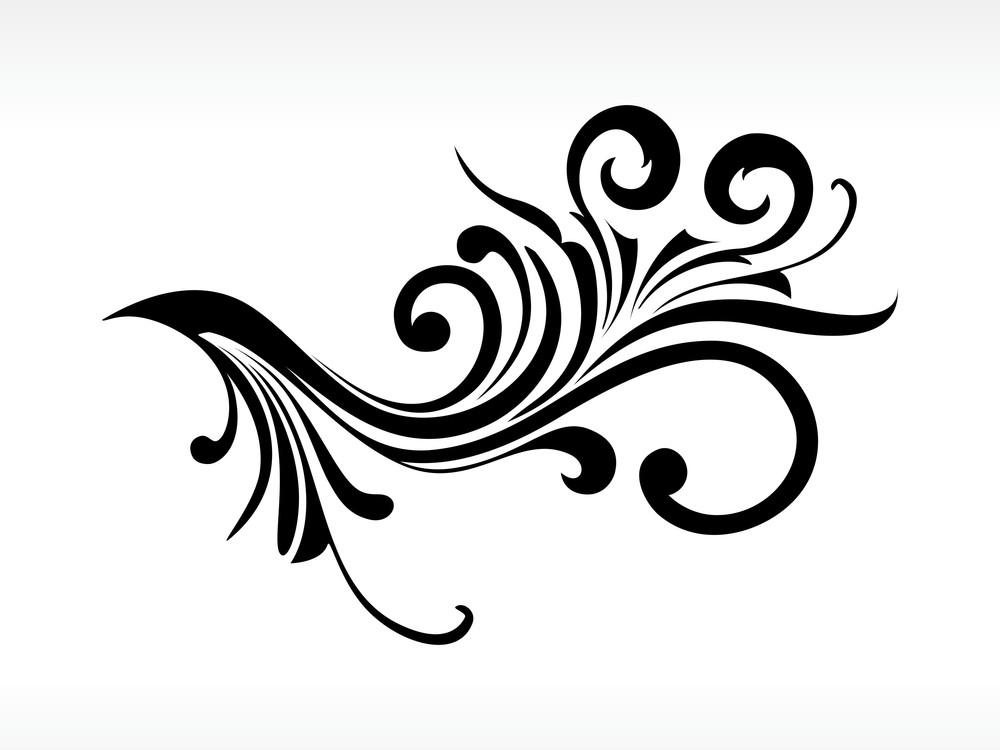 Vector Black Floral Pattern