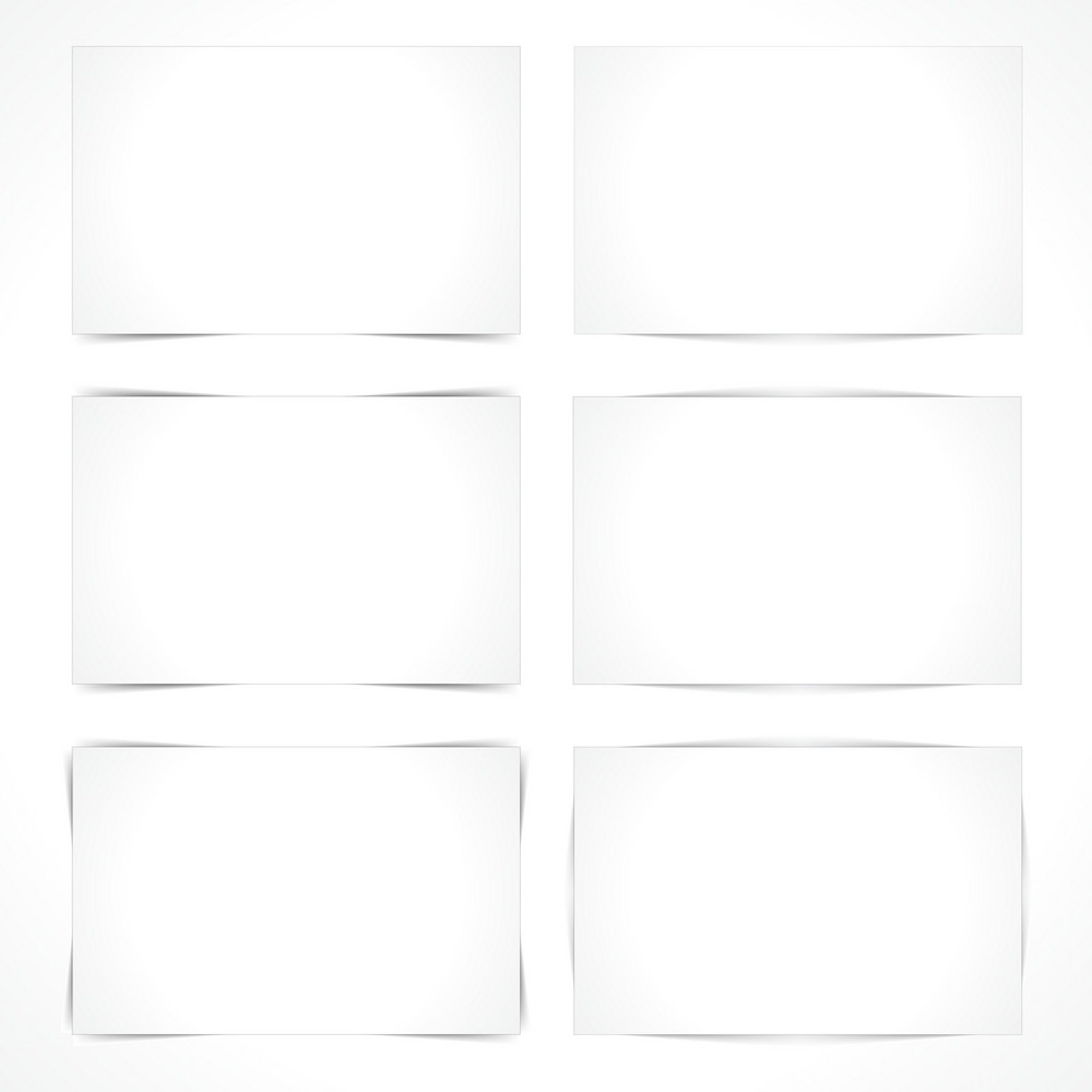 Vector Blank Paper Sheets With Different Shadows