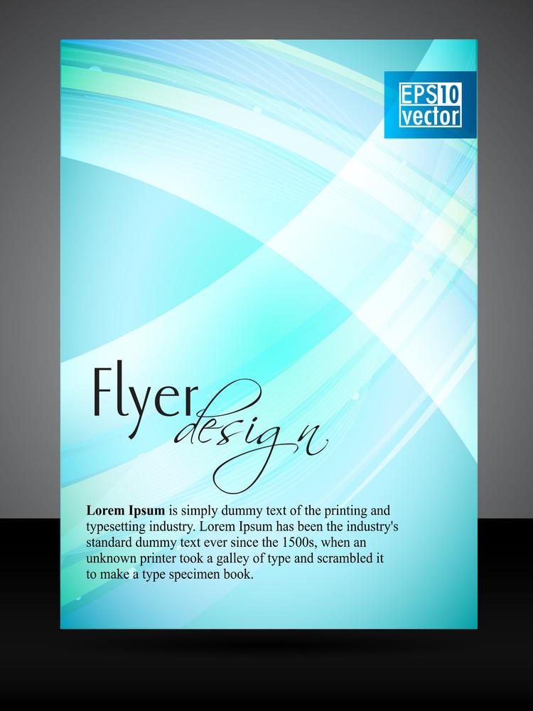 Vector Blue Flyer/cover Design.