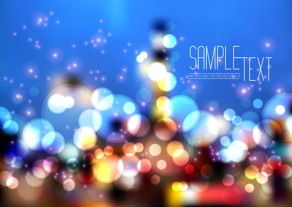 Vector Blurry City Lights