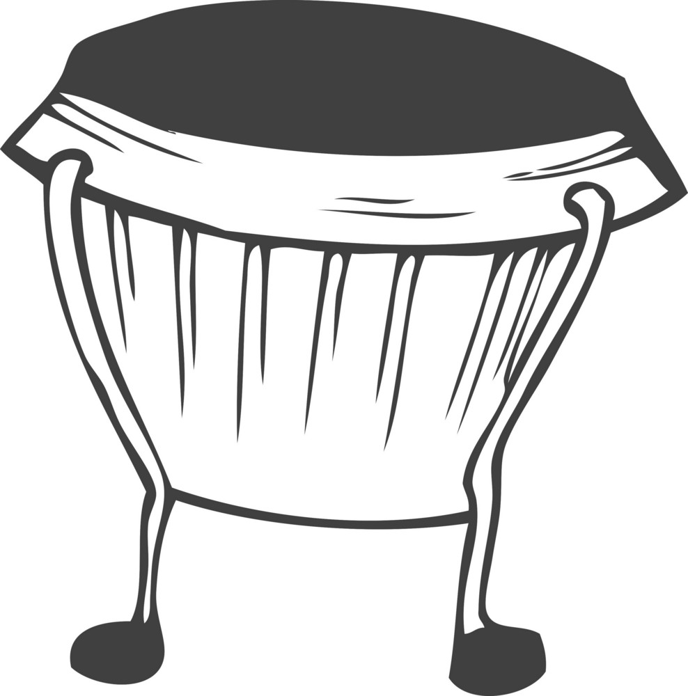 Vector Bongo Drum