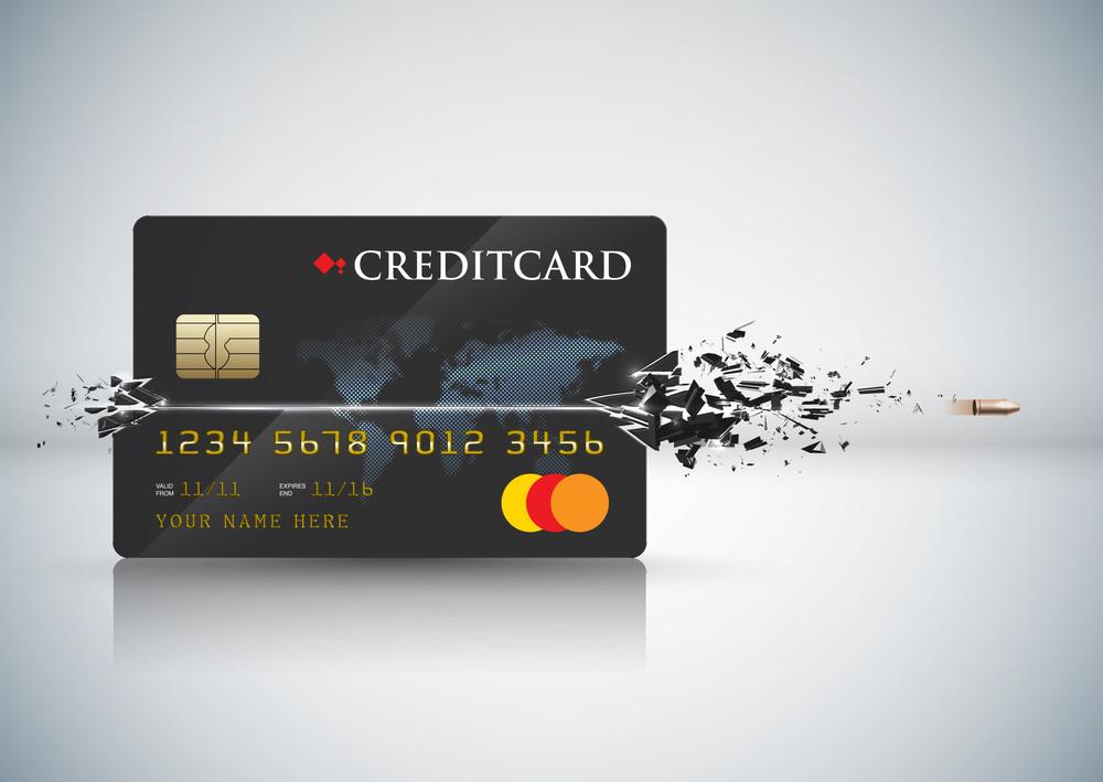 Vector Bullet Sends A Shot Through A Credit Card