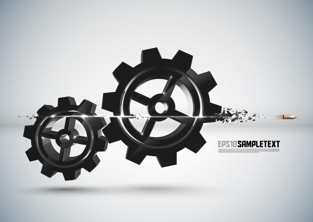 Vector Bullet Sends A Shot Through Cogwheels