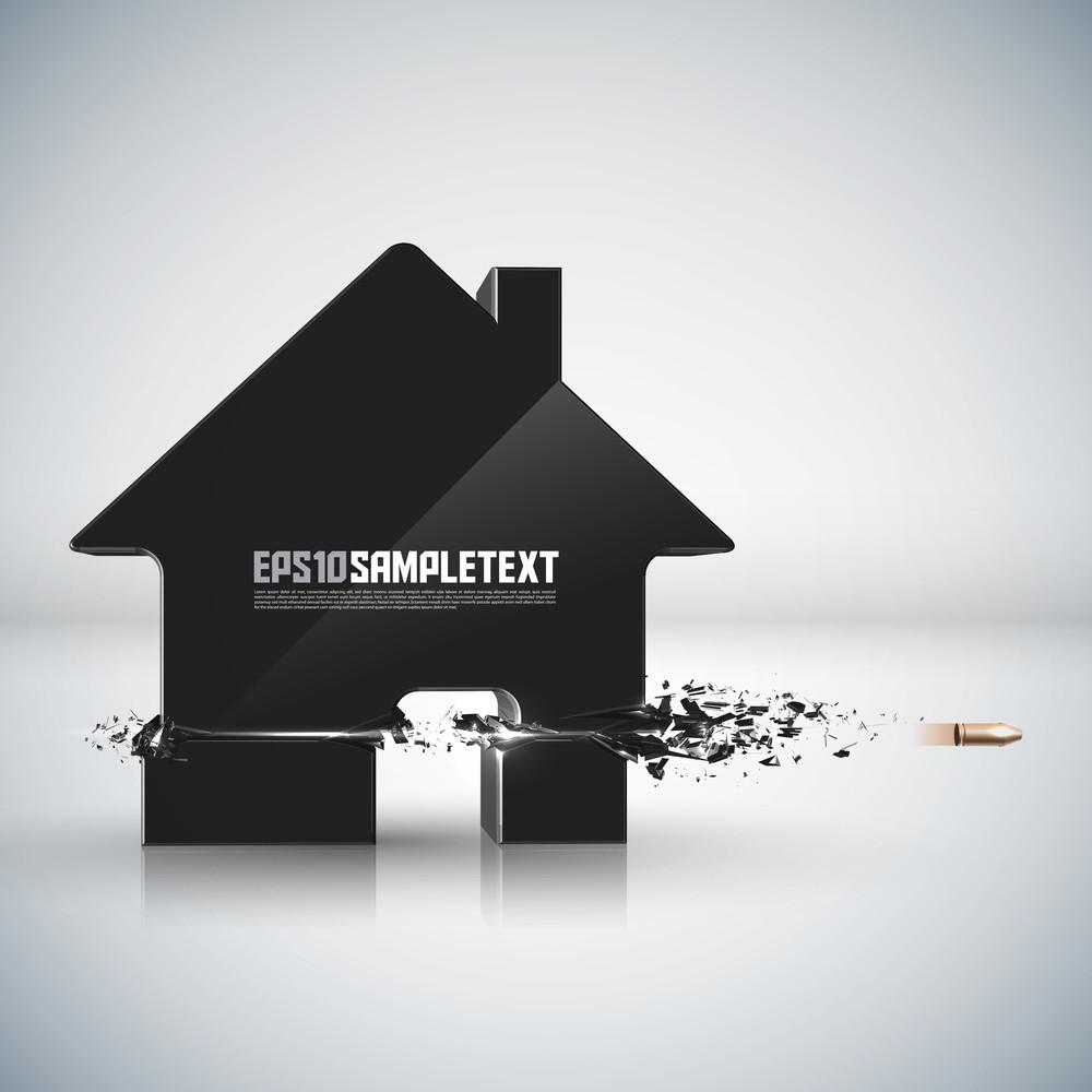 Vector Bullet Sends A Shot Through Home Sign
