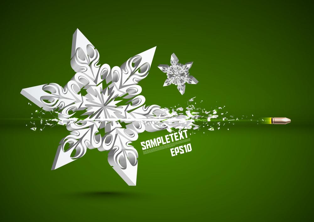 Vector Bullet Sends A Shot Through Snowflake