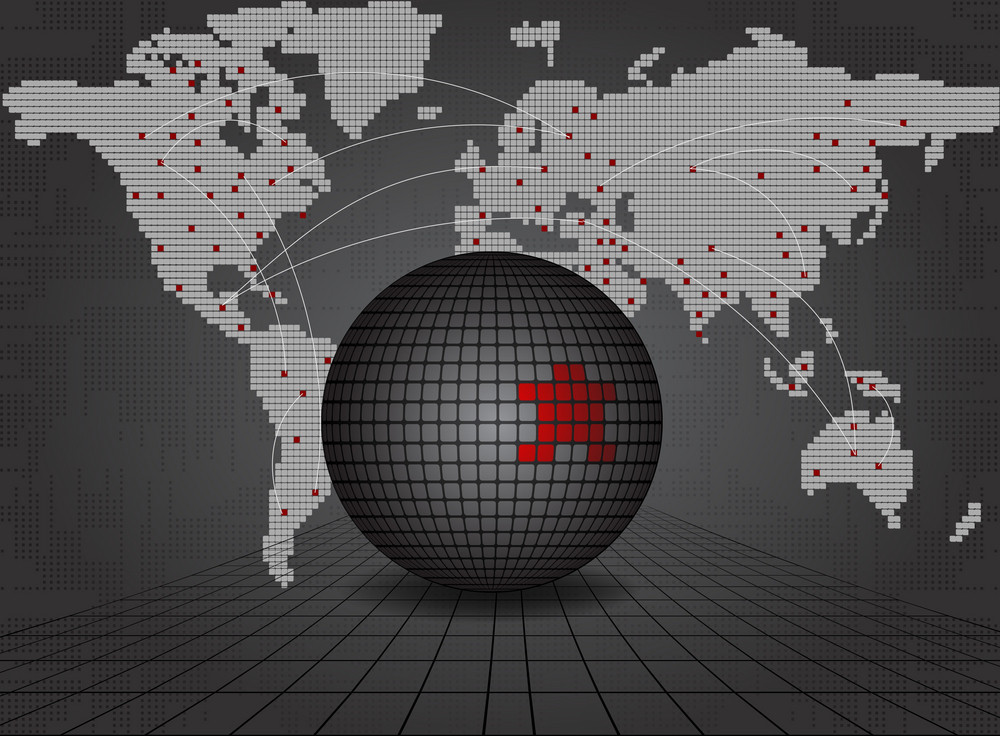 Vector Business Background With World Map