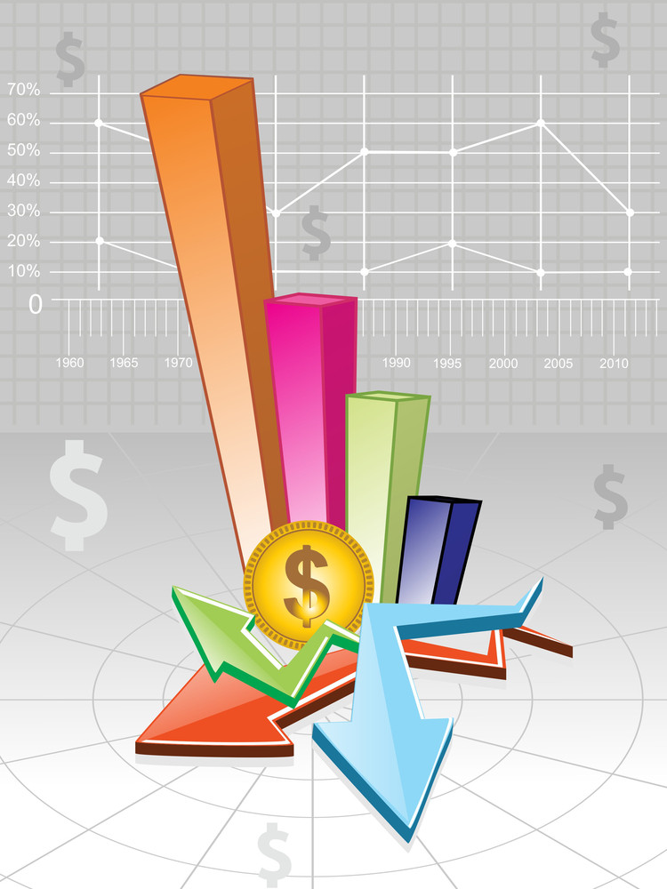 Vector Business Growth Background