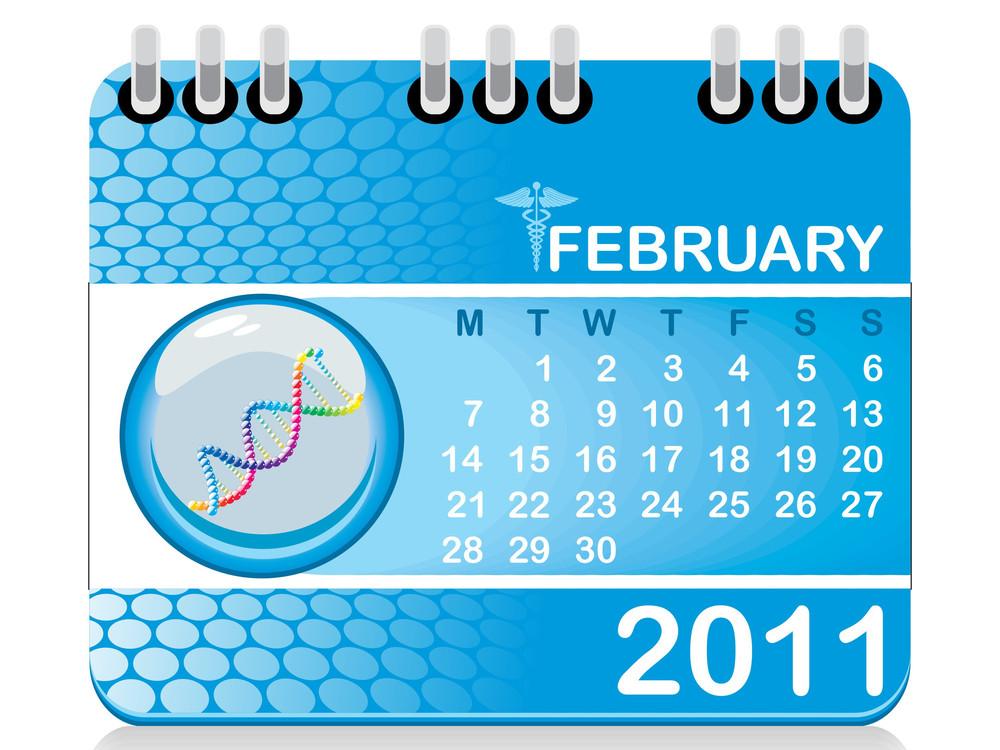 Vector Calendar For New Year 2011