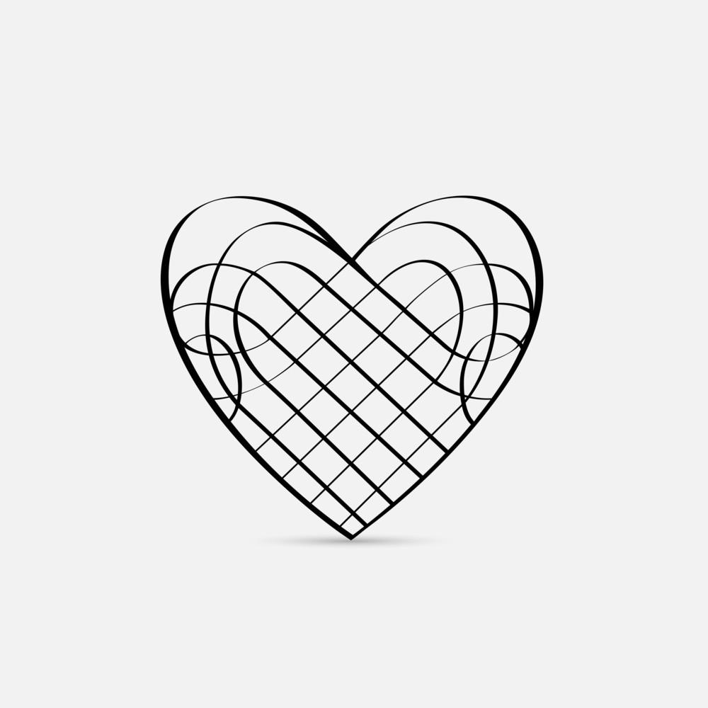 Vector Calligraphic Heart