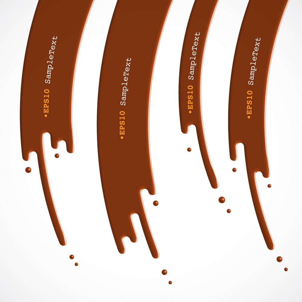Vector Chocolate Dripping Background