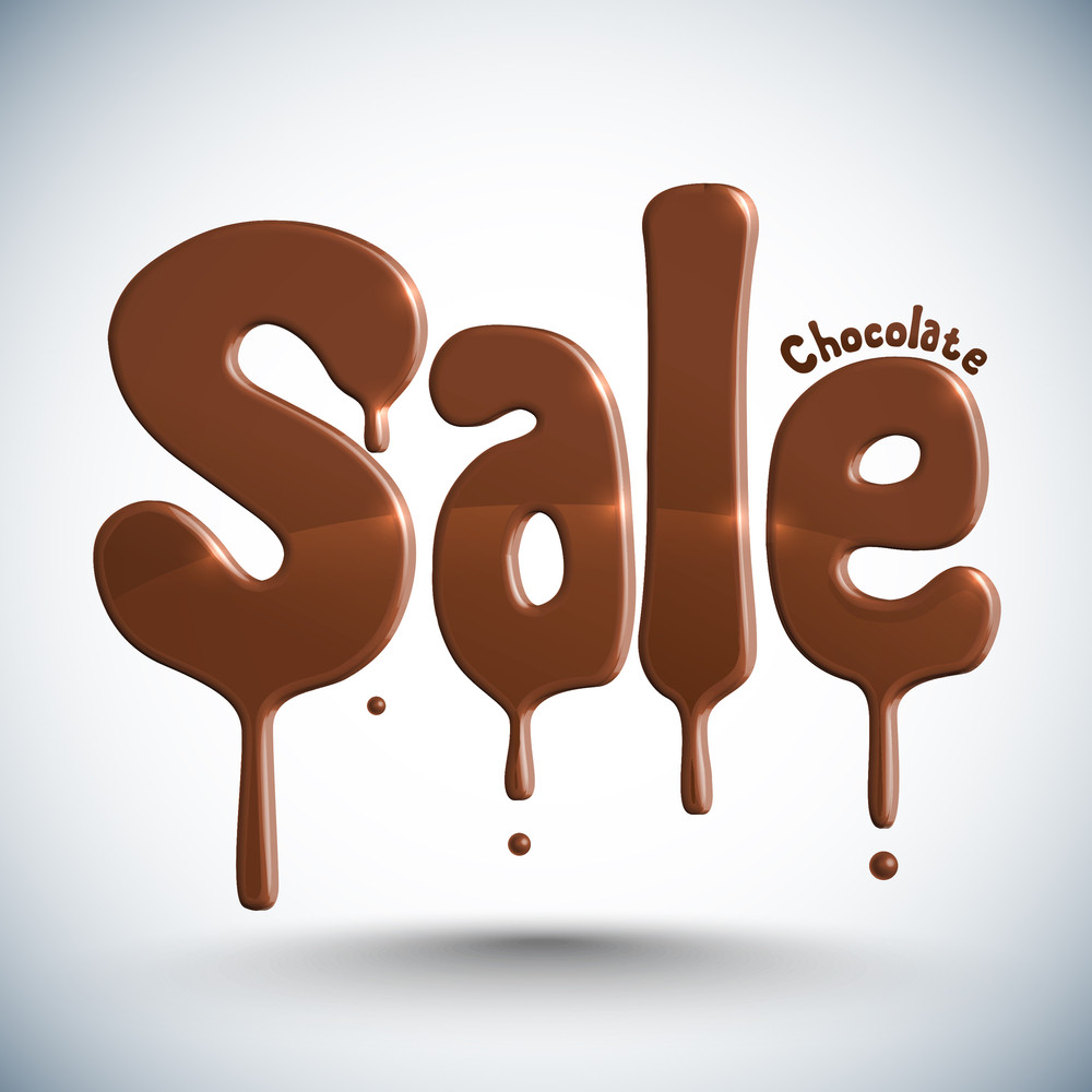 Vector Chocolate Dripping - Sale