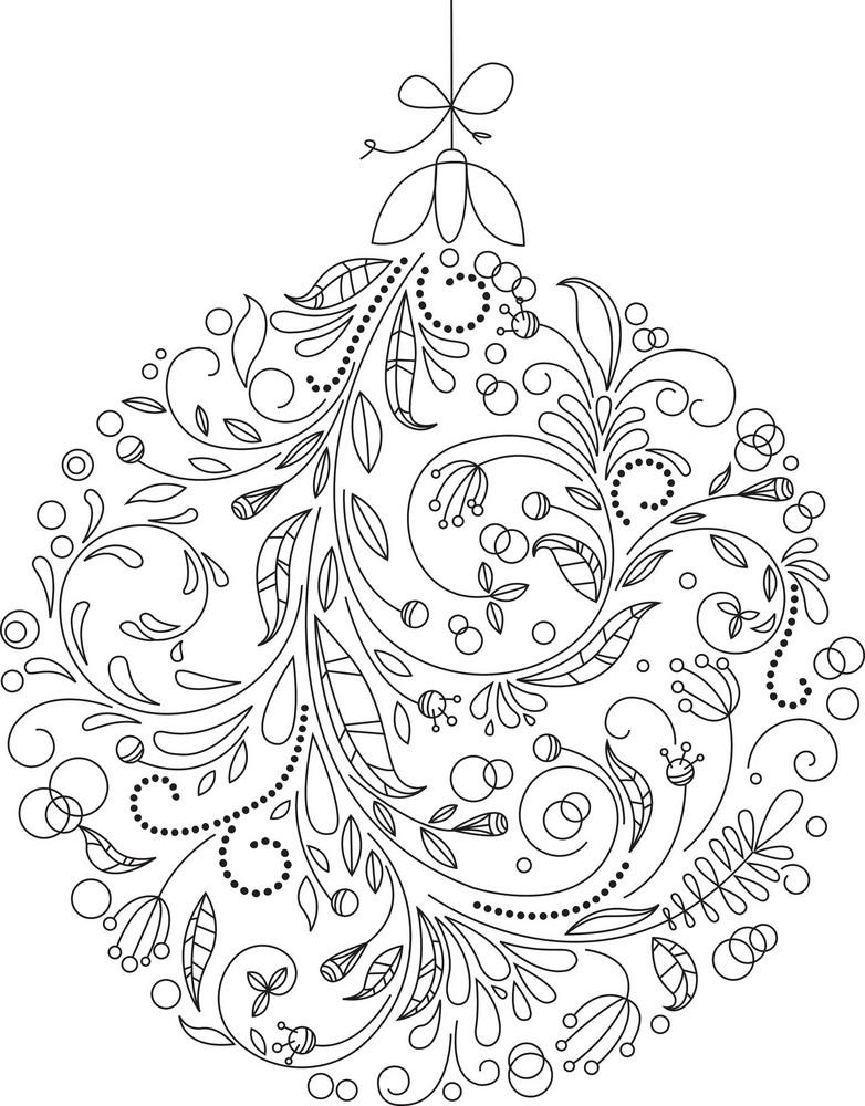 Vector Christmas Ball Royalty Free Stock Image