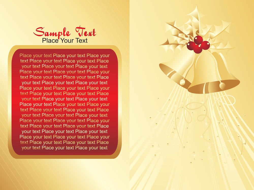 Vector Christmas Bell And Sample Text