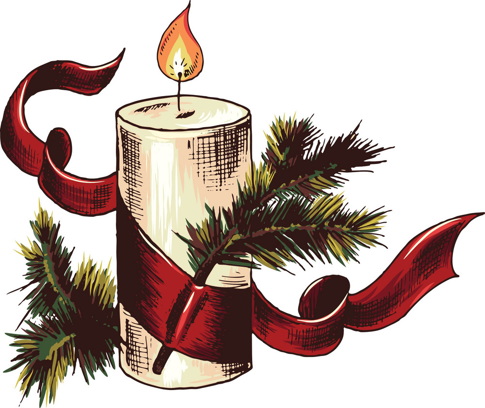 Vector Christmas Candle