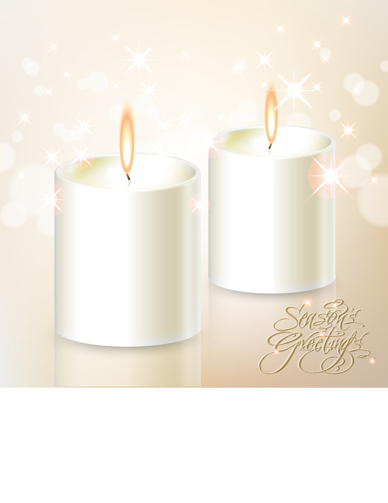 Vector Christmas Candles