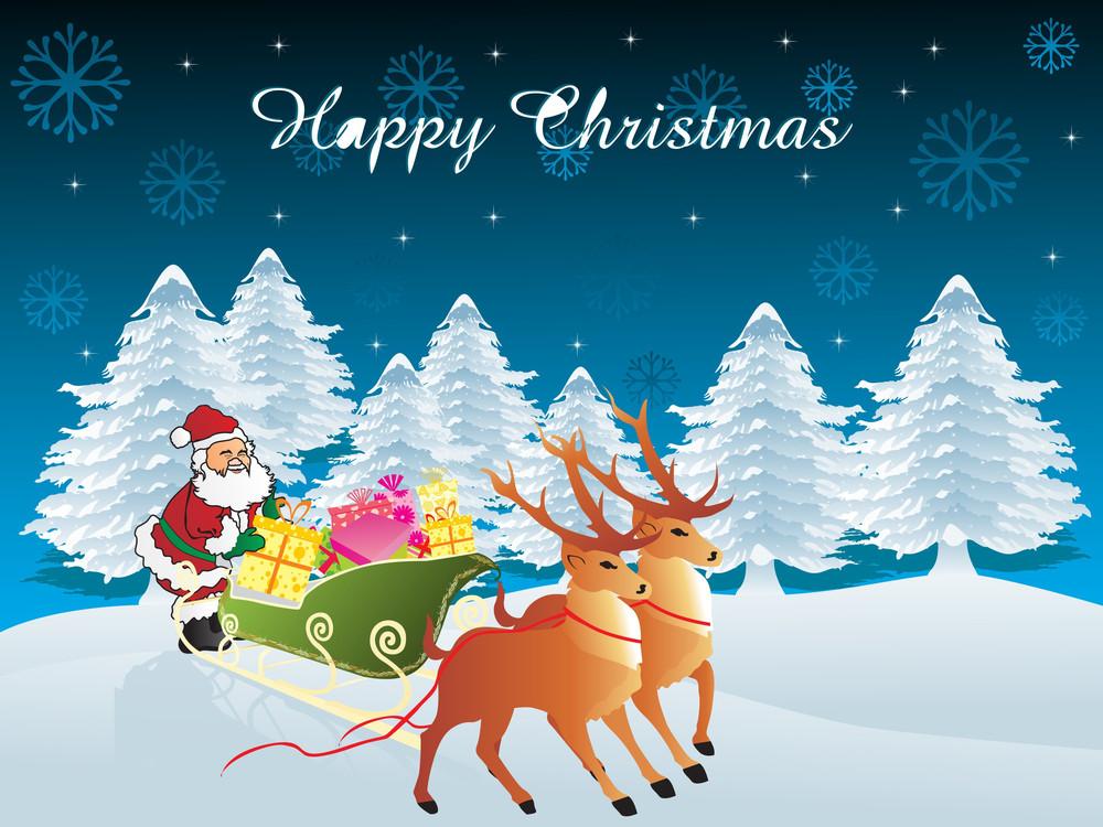 Vector Christmas Day Wallpaper