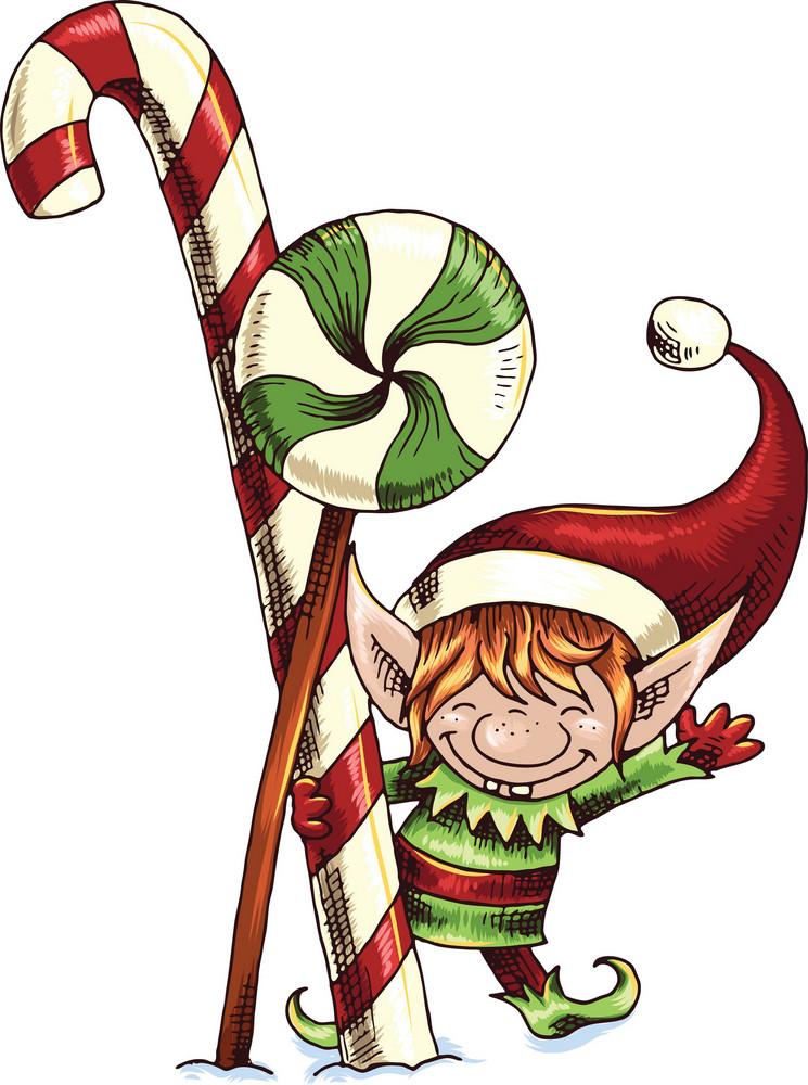 Vector Christmas Elf