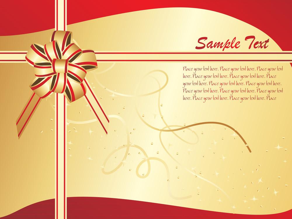 Vector Christmas Golden Bow