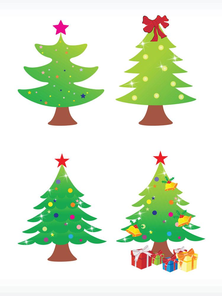 Vector Christmas Tree Icon Set