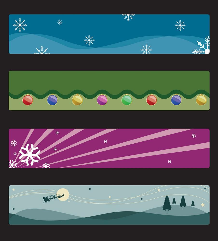 Vector Christmas Web Banners