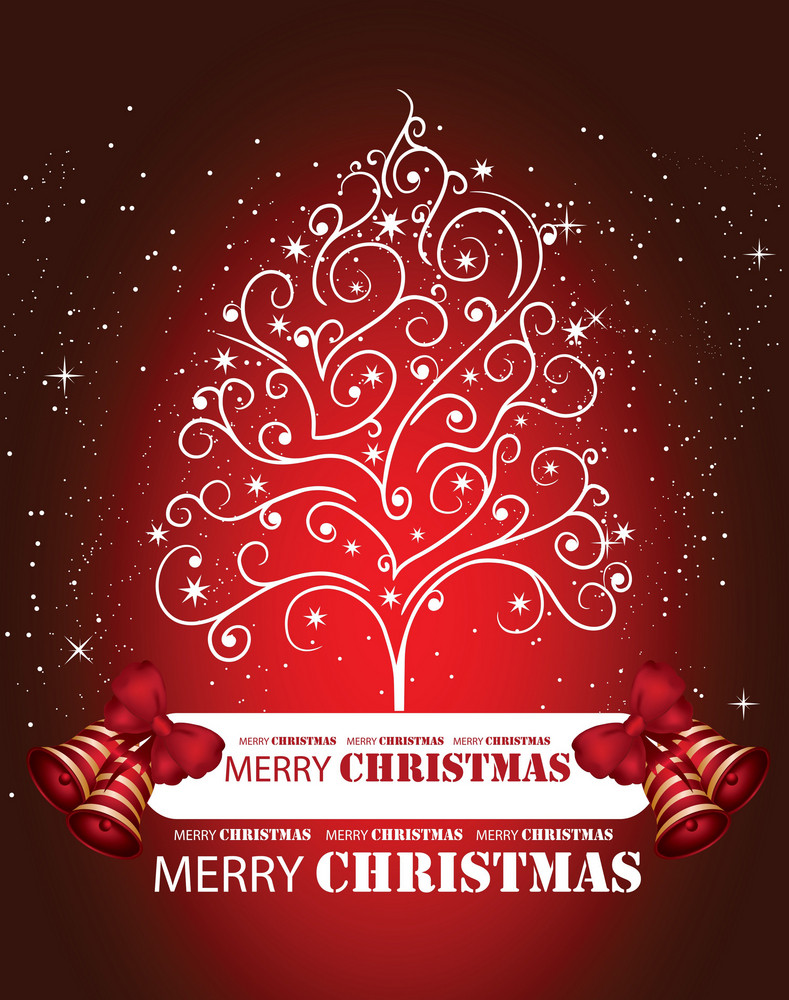 Vector Christmass Tree Background