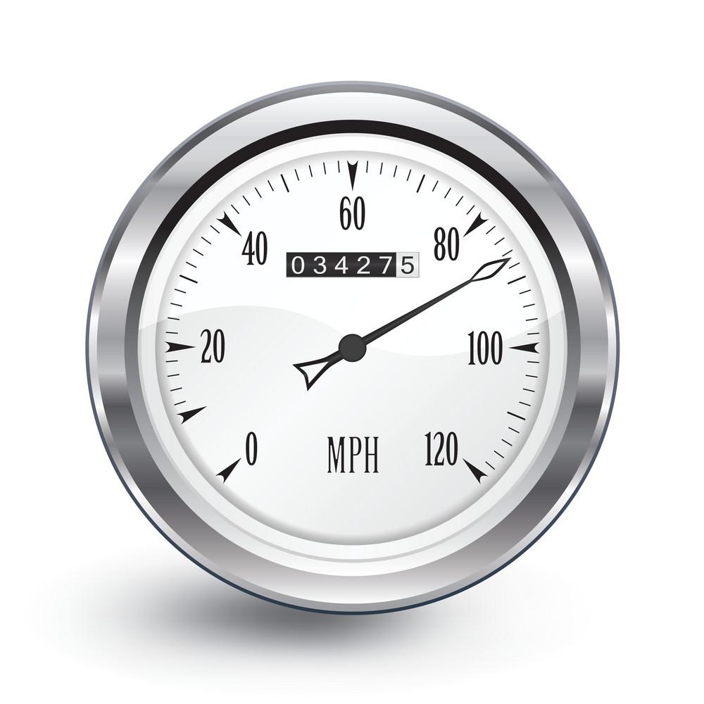 Vector Chrome Speedometer