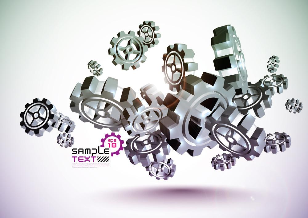Vector Cogwheel Steel Texture