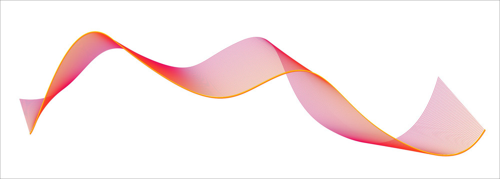 Vector Colored Wave Lines