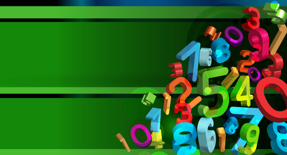 Vector Colorful Abstract Background With 3d Numbers